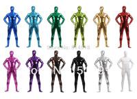 Zentai Shiny Metallic Color Skin-tight Lycra Spandex Full Bodysuit