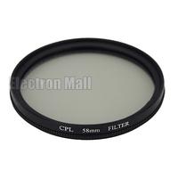 58 mm 58mm CPL Filter Circular Polarizing PL-CIR C-PL Lens Filter for DSLR Camera Nikon Canon Sony Olympus, FREE SHIPPING!