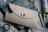 Free shipping/ Vintage 200g Craft Paper Love buckle DIY Multifunction Envelope 50pcs/set/Package paper/wholesale