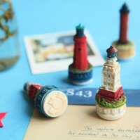 FREE SHIPPING 1LOT OF 6PCS /Korea stationery A fairy tale castle resin stamps/Diary decoration inkpad companion