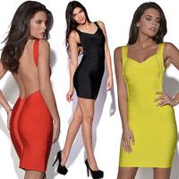 2014 women sexy party dress bandage racerback dress