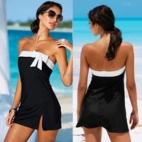 HOT!!! 2014 Summer Beach Dress For Women Push Up Bikini Swimsuit Sexy Clubbing Dress Black&White PLA649