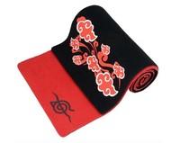 Naruto Hinokuni LOGO Akatsuki Red Cloud scarf