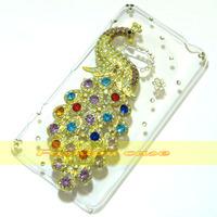 1 Pcs Handmade Bling Diamond Peacock Clear Hard Back Case For Nokia Lumia 625