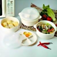 Microwave oven multifunctional combination pot steamer egg boiler rice cooker piece set