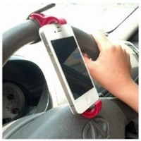 Multifunctional steering wheel mobile phone fitted rack car mobile phone holder