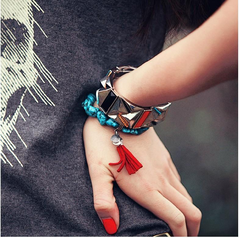 Fashion 2014 bracelet charm fashion 2014 NEW Green Turquoise Bracelet S0029(China (Mainland))