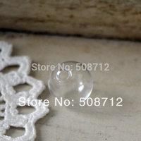 50 Pcs 20mm diameter Clear Sphere Dome Glass Bottle DIY Terrarium 5mm hole on bottom