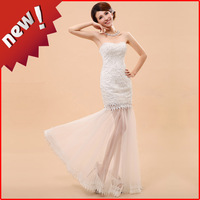 2014 spring fish tail wedding dress bridal design dress princess