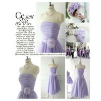 Bridesmaid clothes short design sisters dress tube topbridesmaid dress