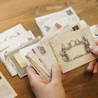Wholesale,(1 Lot =96 Pcs) DIY Scrapbooking Paper Envelopes Vintage Mini Envelope Color Envelopes