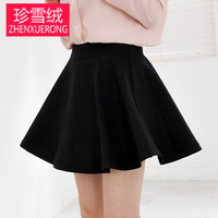 Spring and summer female bust  high waist short  puff skirt sheds plus size pleated