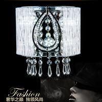 Crystal wall lamp chrome living room wall lamp wall lights balcony ofhead led wall lamp