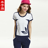 Flag 2014 casual sports set slim casual sports set