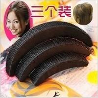 Unique DIY 12bag/lot Retail Black Velcro Hair Bump 3pcs/bag Hair Base Hair Sticker Sponge Hair Pad Hair Accessory