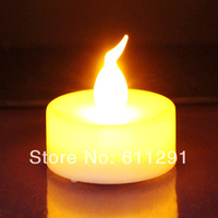 17% 48pcs Yellow Flickering Flameless Led Tea Candle With Burning Long Time Battery Included