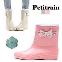 2014 bow jelly rain boots rainboots female fashion short water shoes rain shoes