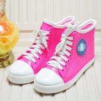 Rain boots light shoes candy color boots sport shoes slip-resistant waterproof plus velvet lovers thermal comfortable shoes