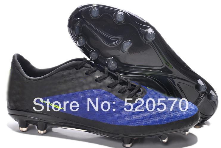 2014 outdoor homens chuteiras chuteiras de futebol novo hypervenom fg botas esportivas azul preto com amarelo homem esporte sapata do bnib botas(China (Mainland))