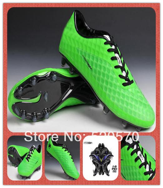 Sapatos Moda Verde Hypervenom futebol para homens 2014 Outdoor Bola chuteiras chuteiras Athletic Shoe ACC terra firme Sole Hotsale(China (Mainland))