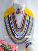 free shipping!!! LK-1006 African Wedding Beads, Fashion Crystal Jewelry Set
