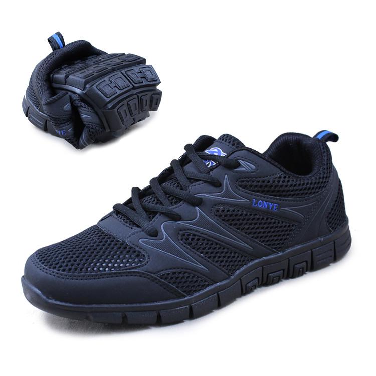 2014 esporte sapatos masculinos gaze idosos macio e confortável calçado desportivo sola de tênis(China (Mainland))