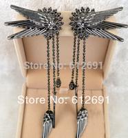 Fashion Elf wings ear cuffs tassel non pierced ear clip charms earring for women jewelry on earrings
