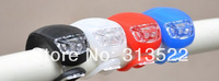 240 pieces=120 pairs Silicone Bike Bicycle Cycling include the battery  LED Rear flash Light lamp four styles  free DHL