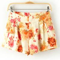 Fashion female casual all-match elastic waist shorts