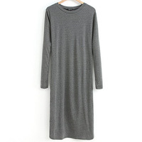 Fashion female knitted one-piece dress