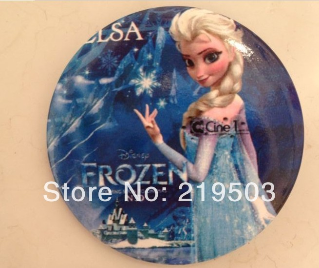 new Free Shipping frozen badge mini pin brooches 1Set=30pcs design mixFrozen Badge Button Pin 4.5CM party favor gift children's(China (Mainland))