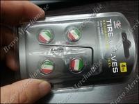 4caps/lot stainless steel ITALY FLAG car automobile auto wheel tire tyre valve valves cap caps cover covers anti-theft airleak