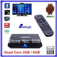 Quad Core CS-M8 XBMC Android TV stick M8 Amlogic S802 2GB/8GB 2.4G/5G Dual WiFi Set top Box 4K HDMI Bluetooth Android 4.4 Kikat