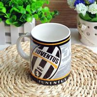 Fans supplies football souvenir ceramic cup fans juventus cup mug
