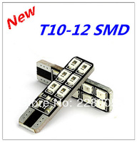 4pcs/lot Canbus T10 W5W 194 168 12SMD 2835 LED Auto Car wedge light Width Lamp bulb No Error FREESHIPPING