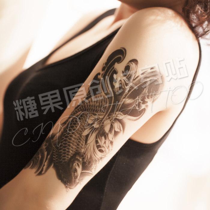 blume arm tattoo aufkleber wasserdicht Karpfen bein männer und frauen ...
