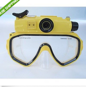 HD 720P Underwater 30M Digital PC Camera Waterproof Video Diving Mask Play on TV Free shipping(China (Mainland))