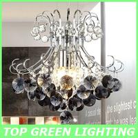 Modern Crystal Chandelier Light Hanging Crystal Bedroom Lights Dining Room Lamp Black Crystal Bar Chandelier 40x40CM