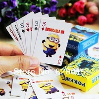 New!Anime poker 3sets/lot 3D movie Despicable Me 2 Minions Pokers for gift