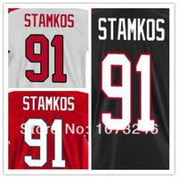 Cheap Shirt Hockey Jerseys #91 Steven Stamkos Jersey Red National Team Uniform 2014 Men's Wholesale Polyester Top Quality