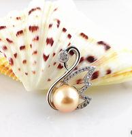 925 silver jewelry ,natural freshwater pearl pendants ,women's graceful swan pendant jewelry, pearl choice white/pink/purple