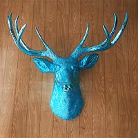 Quality luxury home decoration animal head deer wall mural hangings ktv wall decoration