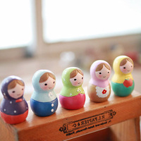 Zakka matryoshka doll resin decoration technology gift hot-selling 5 d0203