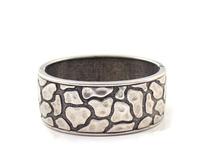 Vintage Shinny Decorative pattern Silver Bangles bracelet