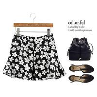 Women Seconds kill New Skirts Summer 2014 Korean Sweet Temperament Wild Flower Print High Waist Chiffon Skirt L234 Shipping