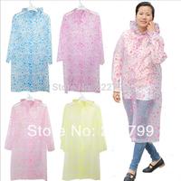 2014 fashion waterproof jackets dot PVC raincoat with sleeves poncho portable men women raincoat free shipping