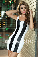 Sexy Lingerie Black&White Stripper Club New Min Dress Set Sleepwear Costume Underwear  Uniform ,Kimono