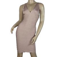 Signature Essentials Bandage Dress Sleeveless Nude New Fashion Women Dresses Brand Free Shipping