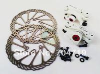 White Colour Mechanical Disc Brake MTB Bike Cycling Bicycle Front Rear Caliper 160mm Rotors