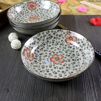 Japanese style tableware endulge zakka plate ceramic plate salad plate circle plate rice dish